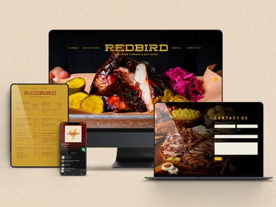 Redbird Digital and Web Design graphic design vector ui illustration menu design design logotype logo restaurant branding creative agency branding