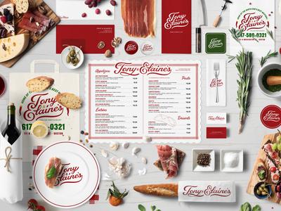 Tony & Elaine's Restaurant Branding