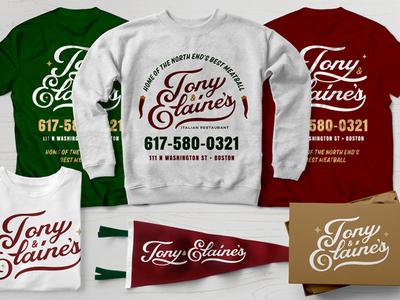 Tony & Elaine's Apparel Branding