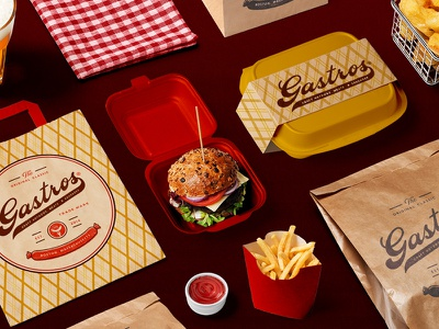 Gastros Branding & Packaging Design vector logotype design logo creative agency branding