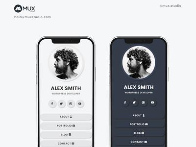 Minimalist vCard for UXDIVI Client minimal web ux webdesign uidesign uxdesign vcard minimalist