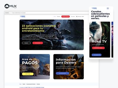 Streaming tv online store ui web ux design webdesign minimal ecommerce