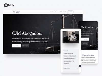 Web project for a law firm in Monterrey lawyer branding web uidesign uxdesign minimal webdesign