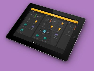 Smarthome remote app tablet smart home tablet interface smarthome