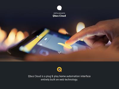 Qbus Cloud Minisite qbus cloud website launch smart home app