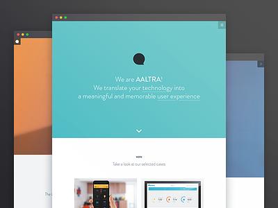 Aaltra portfolio website portfolio website user experience design css html