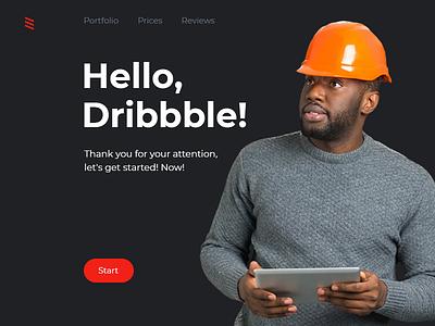 Hello, Dribbble! ui webdesign portfolio studio ux