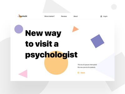 Psycho24 | Online help coo-coo medical simple abstract vector design webdesign ux ui