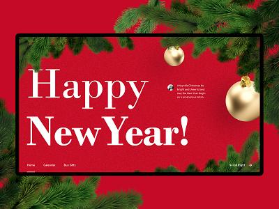 Happy 2020!🎁🎄 design 2020 new year simple minimal typography abstract studio webdesign ui ux