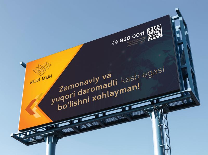 Najot ta'lim o'quv markazi uchun billboard dizayn