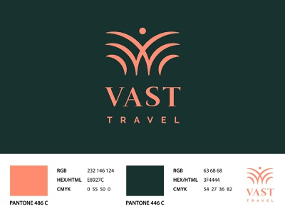Vast Trvael   Logo design branding design golden ratio design brand design brand identity logotype brand logo design branding logo