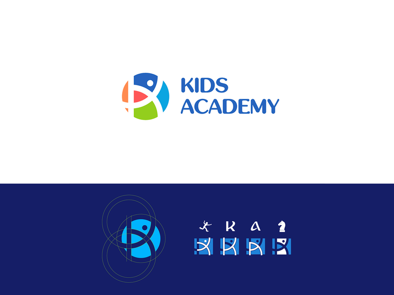 Kids academy | Logo design logodesign golden ratio design branding design kids school brand design brand identity logotype brand logo design branding logo