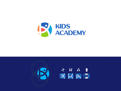 Kids academy   Logo design logodesign golden ratio design branding design kids school brand design brand identity logotype brand logo design branding logo