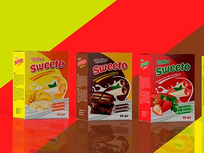 Toffee Sweeto   Packaging Design sweetness sweets sweet pack packaging design packaging package