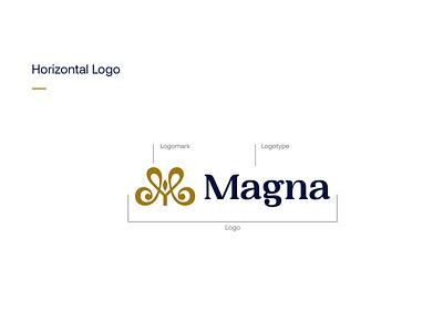 Magna   Logo and Guideline design vector identity illustration logodesign brand identity logotype brand logo design branding logo