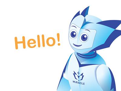 Miracle   Character illustraion персонаж character bot branding logo