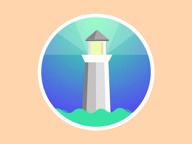 Lighthouse Cove illustration ui vector dailyui sketch illustrator design