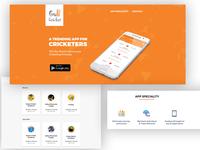 Gulli Cricket - Landing Page