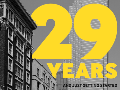29 Years in Business