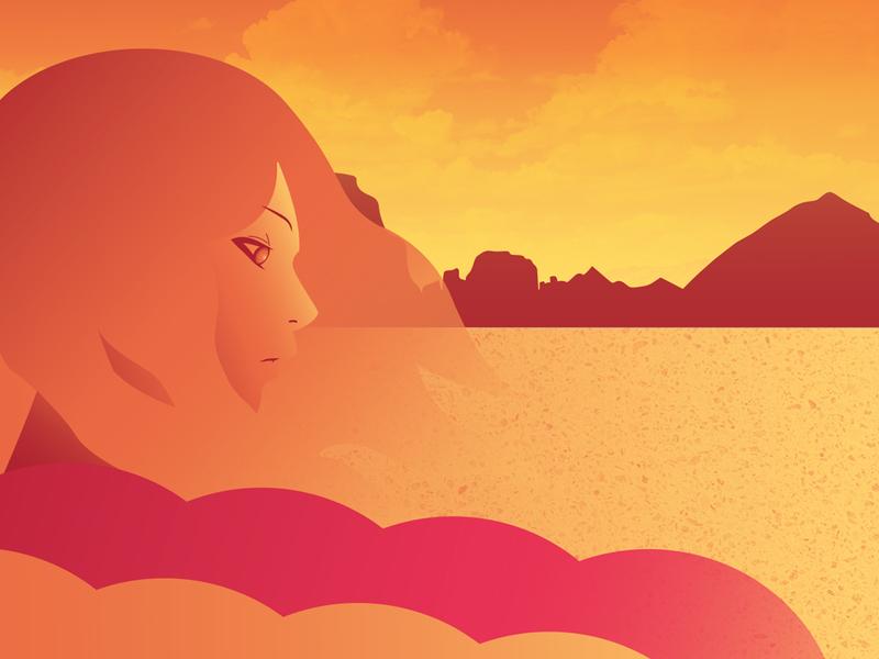 Desert Girl illustration