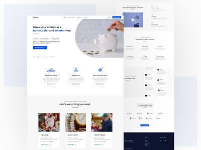 Taxfree - Landing page design web branding landingpagedesign taxfree website design ux ui webdesign landingpage website
