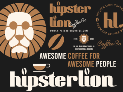 hipster lion coffee co
