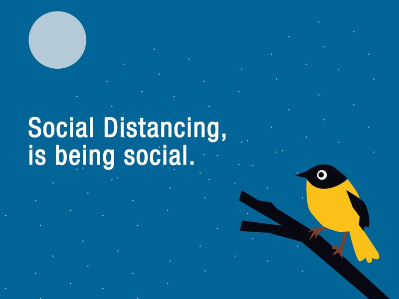 Social distancing at night