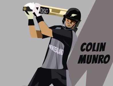 New Zealand cricketer newzealand artwork sports portrait cricket art design illustration