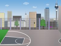 Basket ball Court UrbanBackground