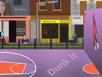 Basket Ball Court _ street environment