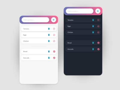 Shop list app concept