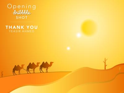 Opening SHOT - Desert Illustration