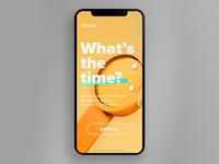 UI   Mobile landing page