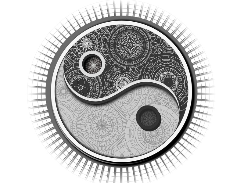 Jing Jang Mandala mandala art vector vector illustration illustration affinity designer