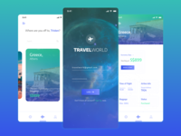 TravelWorld App Design