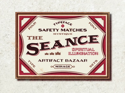 The Seance Safety Matches studio brushes textures badge design vintage logo vintage font vintage badge branding design typeface