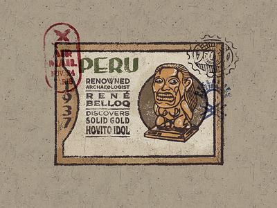Raiders indiana jones adventure classic historical artifacts cards poster ipad procreate brush texture