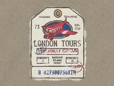 Baggage Claim stamps texture vintage baggage luggage trip travel documents tickets
