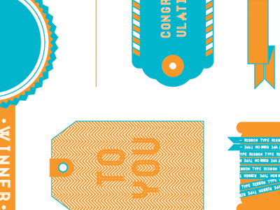 Ribbon Type Specimen color ribbon typography banner custom font grayhood graphic design