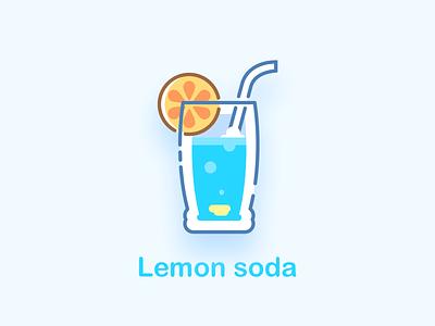 Food icons exercise - Lemon soda mbe soda lemon sketch