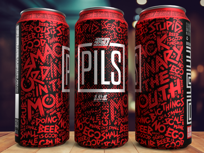 350 PILS Label package design design logo typography illustration branding craftbeer