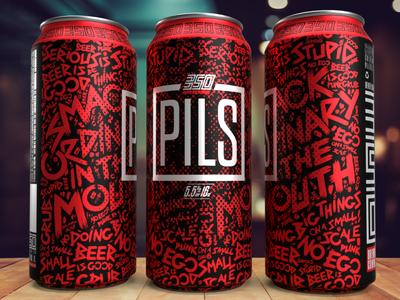 350 PILS Label package design design logo typography illustration branding craftbeer