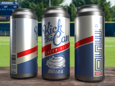 350 Brewing Co. - Kick The Can logo typography package design illustration design craftbeer branding