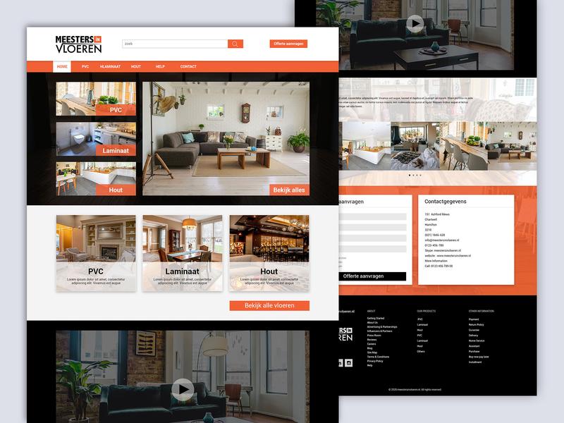 Floor Tiles Company Website re-design