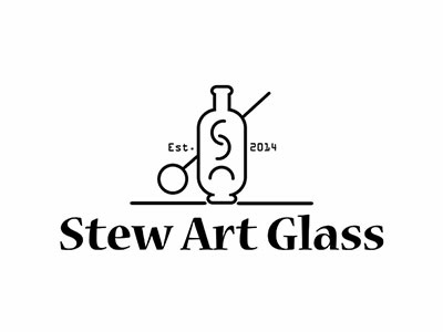 Stew Art Glass Logo icon branding vector logo design