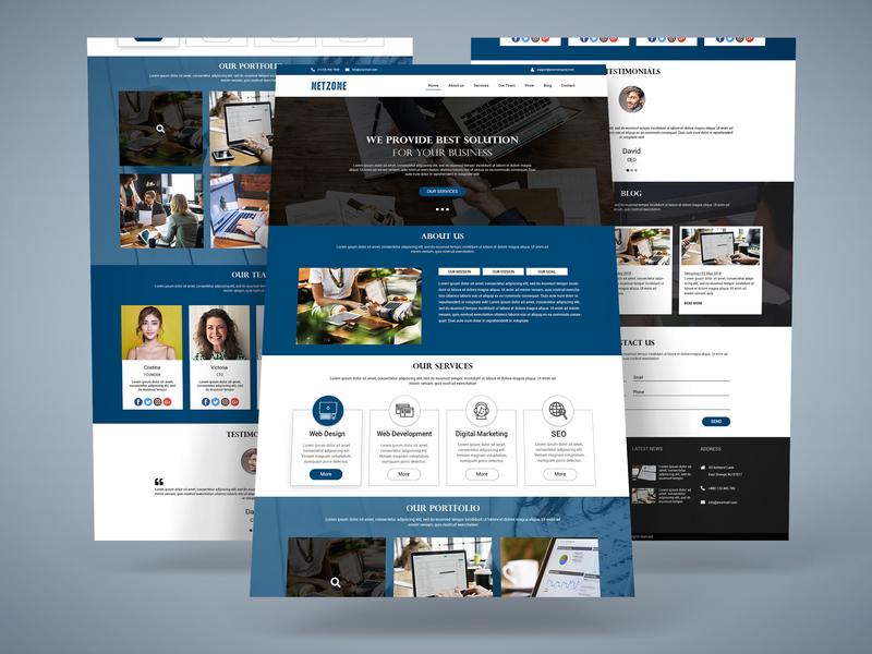 Corporate Web Template web icon type website branding flat minimal typography design ux ui