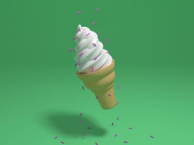 Almost photorealistic ice cream