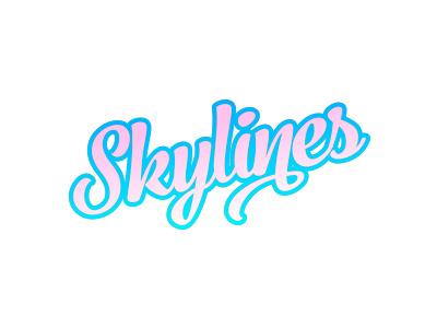 Skylines logo blue sky skyline gradient lettering logotype logo