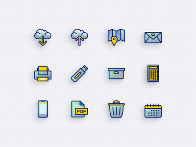 Few office icons