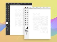 Skeuomorphic Illustrator Interface